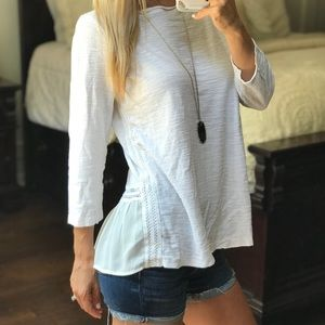 LOFT Long Sleeve White Top